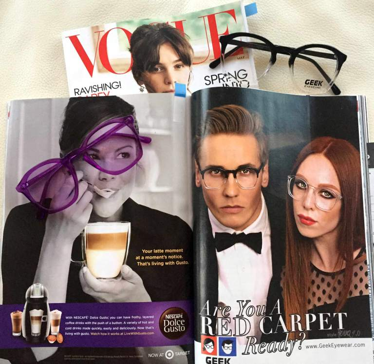 Geek Eyewear In Vogue